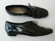 ROS HOMMERSON BLACK LEATHER WING TIP OXFORDS WOMEN SIZE US 10N HOT RARE