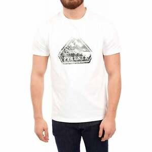Pyrenex Mens Larriou Mountain Logo T-Shirt (White)