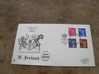 1971 Stuart's First Day Cover / FDC - Northern Ireland Definitive releases
