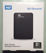 Western Digital Elements 2TB External HDD (WDBU6Y0020BBK-EESN) USB powered - New