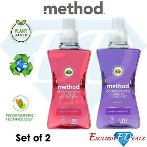 2 x Method Concentrated Plant-Based Washing Laundry Detergents 1.56L (39 Washes)