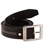 Men's Genuine Leather Jeans Belt Casual Brown Size 32 36 38 40 42 44 S L XL