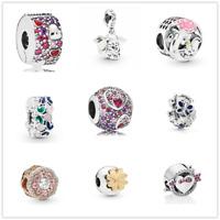 Fashion 1pcs Silver CZ European Charm Beads Fit 925 Bracelet Necklace Chain