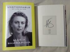 Signed Maria Sharapova Unstoppable My Life So Far Tennis 1/1 HC DJ Surgarpova