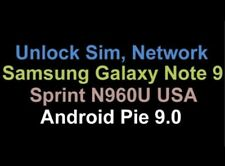 INSTANT Samsung Galaxy Note 9 Sprint Remote Unlock Service
