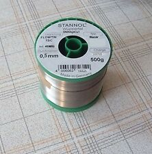 1 x Lötzinn 0,5mm 250g NOPB  250g SN99.3CU0.7 0 Sn99.3Cu0.7 Feinhütte  1pcs