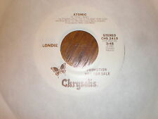 Blondie 45 Atomic CHRYSALIS PROMO