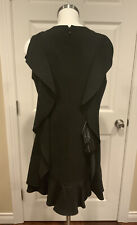 "BCBG Max Azria Black ""AnneMarie"" Ruffle Shift Dress, Size Medium, NWT! $268"