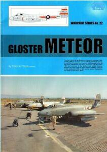 METEOR WARPAINT #22: 84 PAGES + PLANS + SQUADRON COLOURS/ pdf on DVD