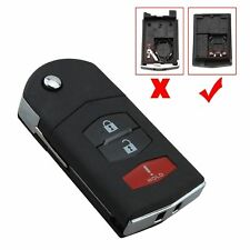3b Replacement Flip Remote Key Fob Case Shell For MAZDA 3 5 6 CX-7 9 Hatchback