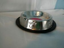 Pet Animal Food Water Bowl Feeder Dish Non Tip or Skid Small Pet Paws Metal