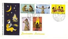 SURINAME BOY GIRL SCOUTS SCOTT B80-84 ON FDC FIRST DAY COVER 1961