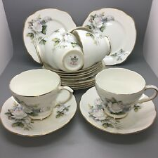 "Duchess ""Ice Maiden"" Full Set of 6 Cups Saucers & Tea Plates"