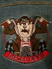 Tazmanian Devil Demin Jacket Leather Collar Diesel Devil Adult Small