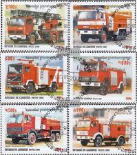 Cambodge 2102-2107 oblitéré 2000 les véhicules des sapeurs-pompiers