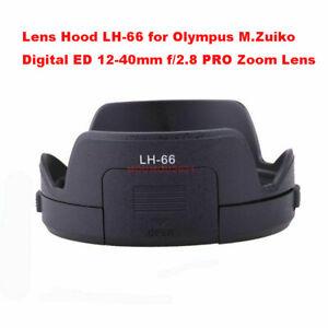 Black Lens Hood LH-66 for Olympus M.Zuiko Digital ED 12-40mm f/2.8 PRO Zoom Lens