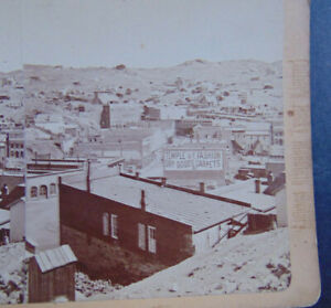 ANTIQUE STEREOVIEW PHOTOGRAPH of MINING TOWN CENTRAL CITY COLORADO
