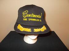 VTG-1980s Continental Fire Sprinklers Co. Admiral Captain Gold Leaf hat sku9