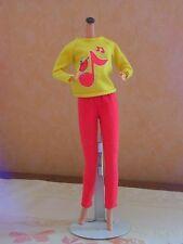 barbie vintage n°3687 tenue fashion sweater     1980