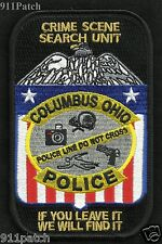 Crime Scene Search Unit Columbus Ohio Police Patch If U Leave It We Will Find It
