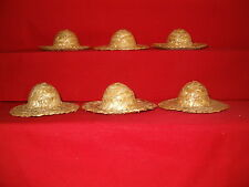 """3"""" Straw Hats Sold in groups of 6"""