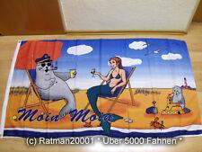Fahnen Flagge Moin Moin Seehund Wassernixe - 90 x 150 cm