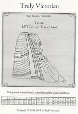 Motifs de coupe truly victorian tv 216: 1875 parisian trained skirt