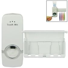 Automatic Toothpaste Squeezing Dispenser Device + Brush Holder Set