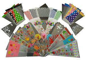 Large Design Coloured Cello Party Cones 18x37cm Bags for Birthdays Gifts Sweets