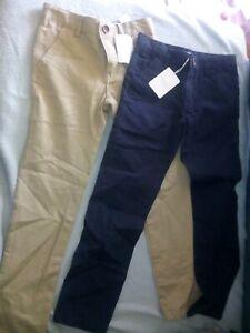 Pantalones De Nino De 2 A 16 Anos Beige 6 7 Anos Compra Online En Ebay