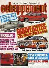 ECHAPPEMENT n°201 JUILLET 1985 24h du MANS R9 TURBO R11 ZENDER VW GOLF GTI 16V