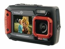 Ivation Red 20MP Underwater Shockproof Digital Camera & Video Camera