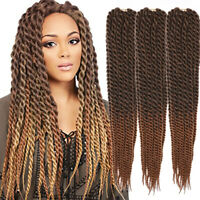 "6pack 22"" Havana Mambo Twist Braids Synthetic Crochet Hair Extension Ombre Brown"
