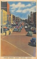 BARRIE ONTARIO CANADA-DUNLOP MAIN STREET-JACK H BAIN PUBLISHED 1940s POSTCARD