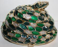 Judith Leiber Snake Minaudiere Clutch Handbag