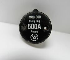 WESTINGHOUSE MCG 800 500A RATING PLUG