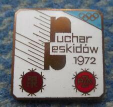 SKI TEAM POLAND OLYMPIC SAPPORO 1972 FIS BESKID CUP SZCZYRK PRESS PIN BADGE