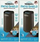(LOT OF 2) Thermacell MR-PSL Patio Shield Mosquito Repellent in Graphite