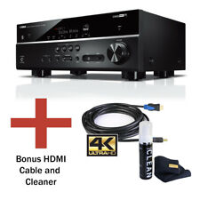 Yamaha RX-V585 7.2 Ch Network Receiver with Bluetooth, 4K, MusicCast, & Bundle