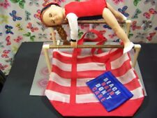 """EVEN BARS GYMNASTIC SET fits American Girl Doll & all 18"""" dolls Mat Carry Bag"""