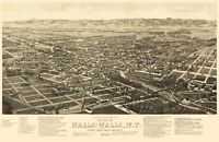 Walla Walla Washington - Burleigh 1884 - 23.00 x 35.35