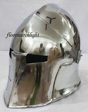 MEDIEVAL VISOR BARBUTA ARMOUR HELMET GREEK ROMAN BARBUTE knight Helmet Wearable
