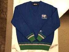 Ultra Rare Vintage Seattle Seahawks NFL Starter V-Neck Sweater - COOL!!!
