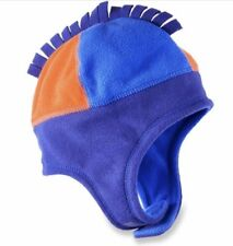 7b3d0503bb16c8 REI INFANT BOYS 6-12 MOS FLEECE MOHAWK TOP HAT W/CHINSTRAP BLUE ORANGE