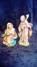 Set of 2 Italian Nativity Figurines, Mary and Joseph