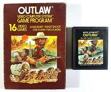 Atari VCS Spiel OUTLAW CX2605 Picture Label us OVP