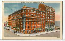 Hotel Arlington, Binghamton, NY about 1942 Roadside America Postcard