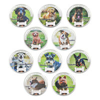 WR 2018 Year of Dog Moneda de plata Set Colored Pet Dog Collectible Gift