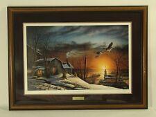 Terry Redlin ''The Sharing Season'' Wildlife Art  Framed  Signed W/ COA 1985