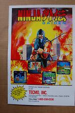 Ninja Gaiden #2 Arcade Flyer Video Game promotional poster